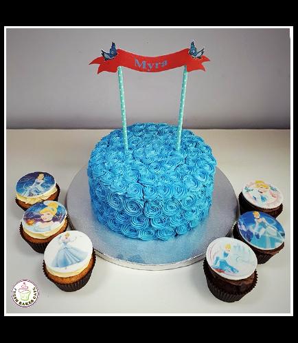 Cinderella Themed Cake & Cupcakes