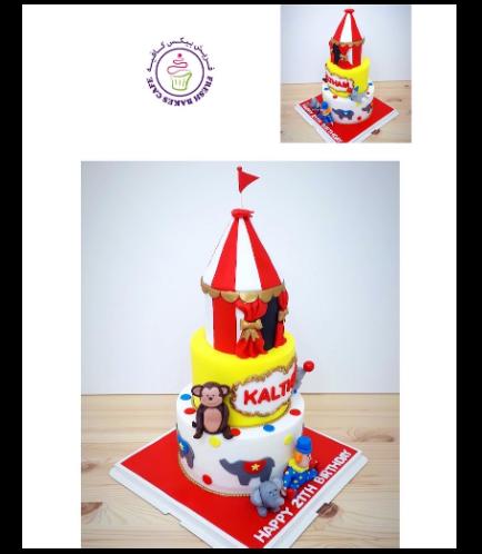 Circus Themed Cake - 3 Tier 02b