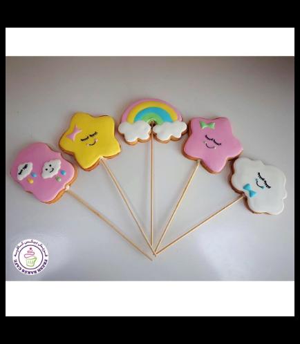 Cloud, Rainbow, & Star Themed Cookies