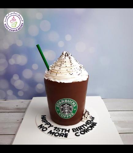 Coffee Cup Themed Cake - 3D Cake - Starbucks 01