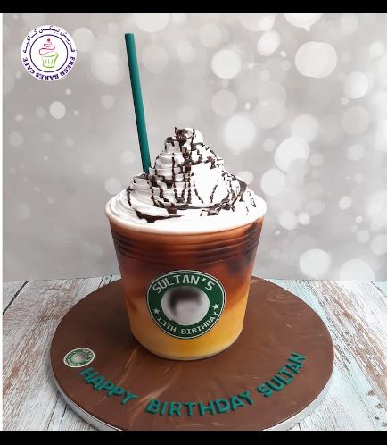 Coffee Cup Themed Cake - 3D Cake - Starbucks 03
