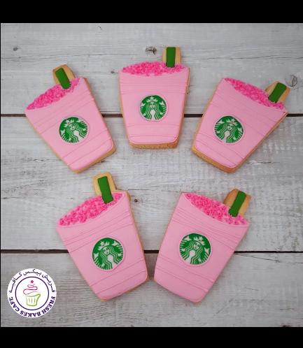 Coffee Takeaway Cup Themed Cookies - Starbucks