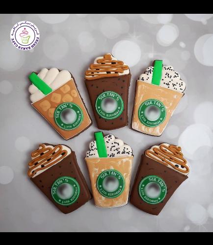 Coffee Takeaway Cup Themed Cookies - Starbucks 02