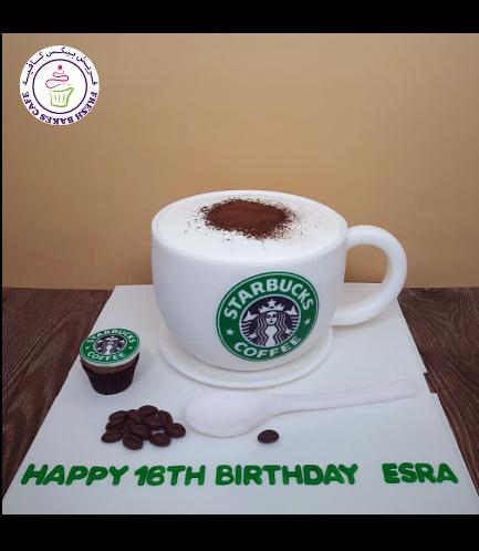 Coffee Mug Themed Cake - 3D Cake - Starbucks 02