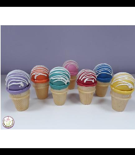 Colorful Cone Cake Pops