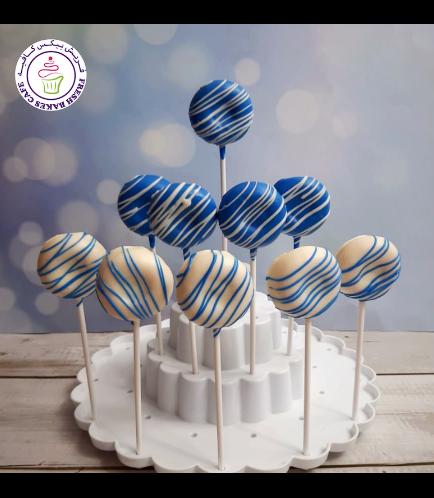 Colorful Donut Pops - Blue & White