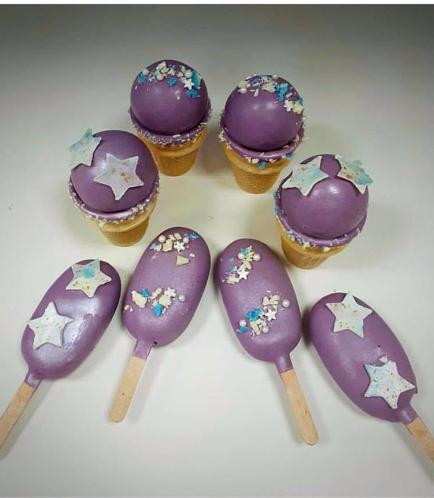 Purple Cone Cake Pops & Popsicakes