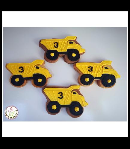 Construction Themed Cookies-Dump Truck