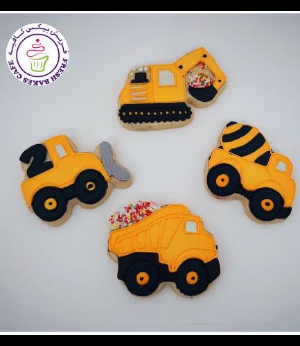 Construction Themed Cookies - Trucks 01b