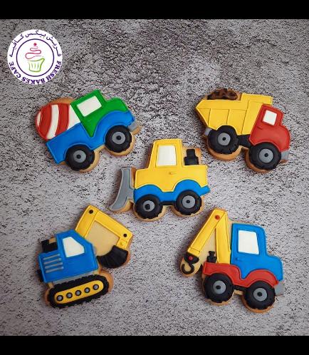 Construction Themed Cookies - Trucks 03