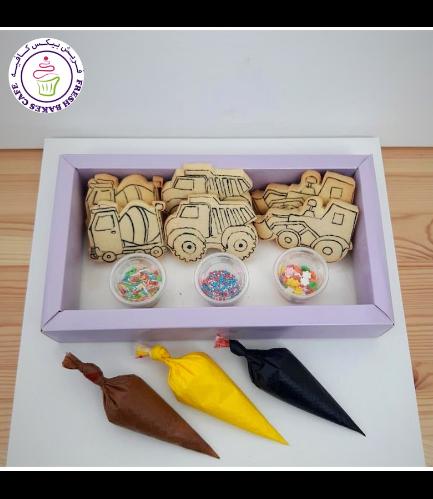 Construction Themed Cookie Decorating Kit - Vanilla