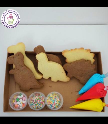 Dinosaur Themed Cookie Decorating Kit - Choco/Vanilla