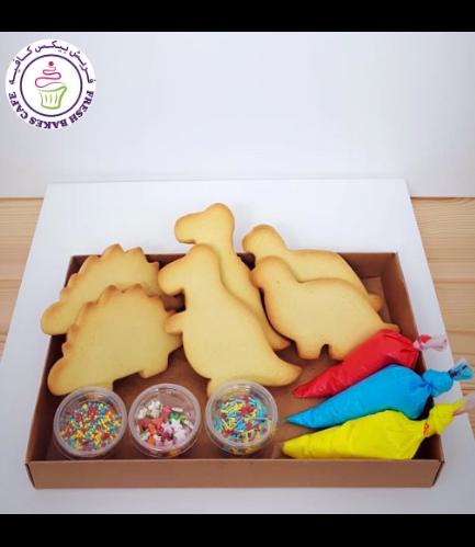 Dinosaur Themed Cookie Decorating Kit - Vanilla