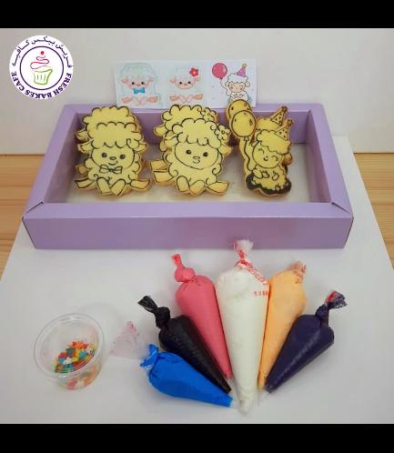 Eid Al Adha Themed Cookies - Sheep - Decorating Kit