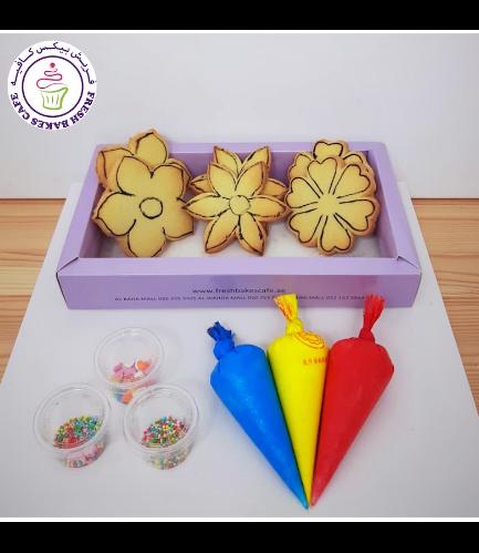 Cookies -  Flowers - Decorating Kit - Vanilla
