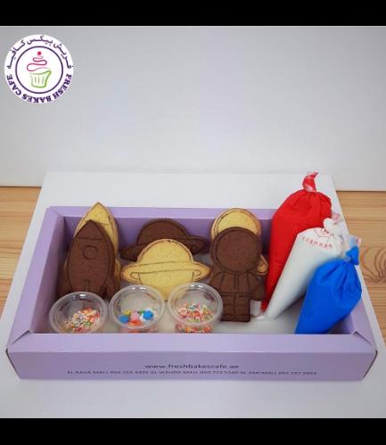 Cookies - Space - Cookie Decorating Kit - Choco/Vanilla