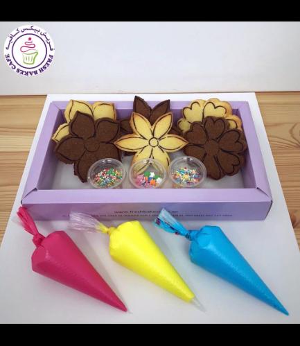 Cookies -  Flowers - Decorating Kit - Choco/Vanilla