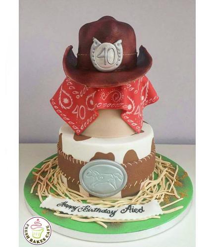 Horse Themed Cake - Cowboy 01
