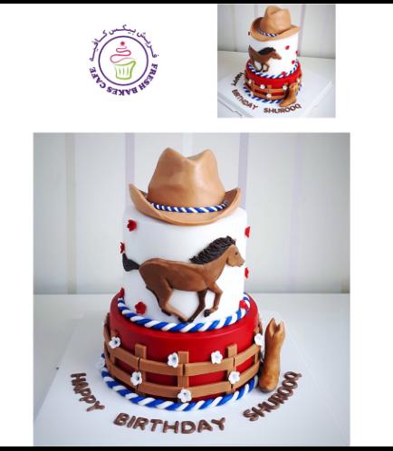 Horse Themed Cake - Cowboy 02