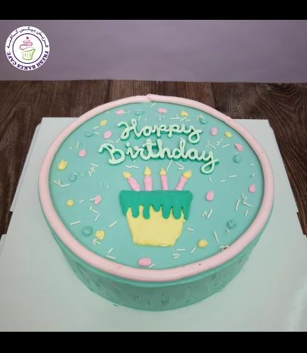 Cake - Birthday Cake 02 - Green