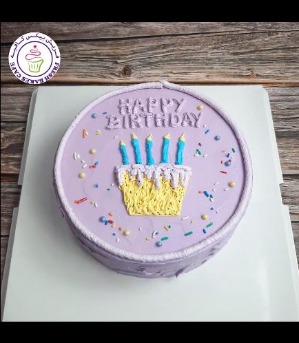 Cake - Birthday Cake 02 - Purple