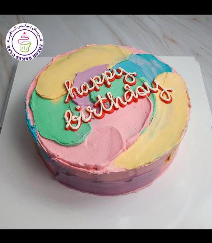 Cake - Color Swirls 03