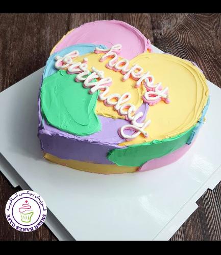 Cake - Heart Cake - Cream - Color Patch 02