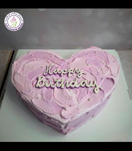 Cake - Heart Shaped - Purple 02