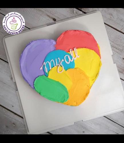 Cake - Heart Cake - Cream - Color Patch 04
