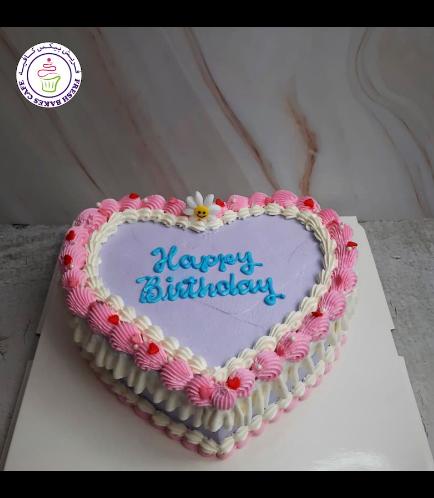 Cake - Heart Shaped - Cream Piping 02