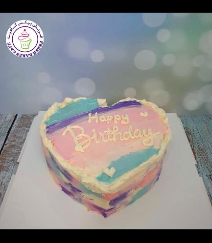 Cake - Heart Cake - Cream - Color Patch 01