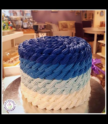 Cream Ombre Rope Cake 01