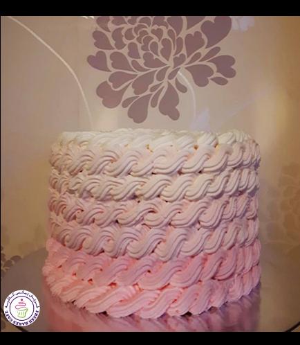 Cream Ombre Rope Cake 02