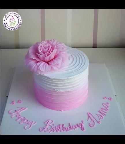 Cake - Peony - Cream Cake - Shaded - Pink