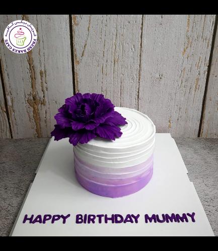 Cream Ombre Cake - Peony - Purple