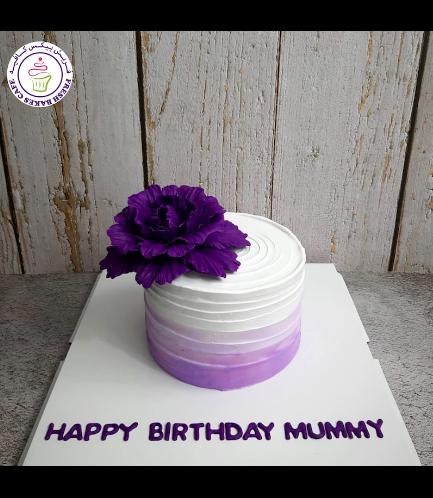 Cake - Peony - Cream Cake - Shaded - Purple