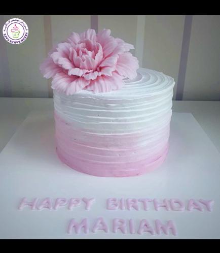 Cream Ombre Cake - Peony - Pink