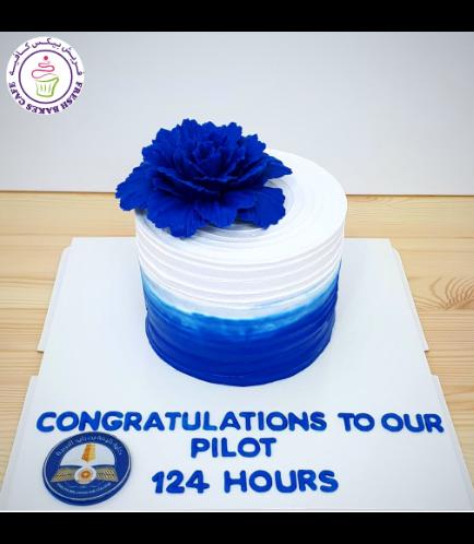 Cake - Peony 02 - Blue