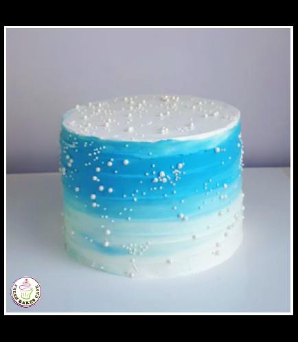Cream Ombre Cake 11