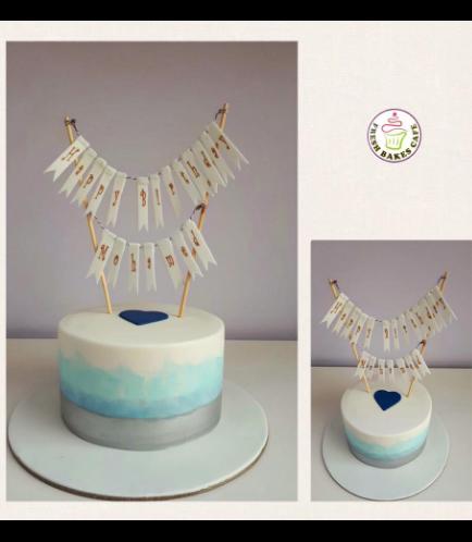 Fondant Ombre Cake 7b