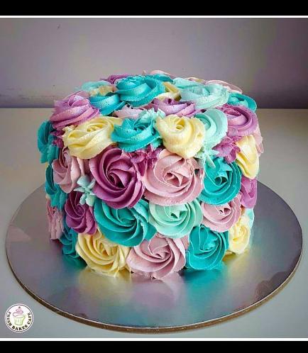 Cake - Pink, Purple, Ivory, & Blue