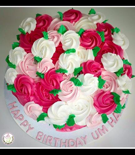 Cake - Pink & White - Mixed 01b