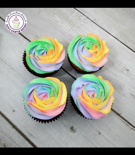 Cream Rose Cupcakes - Multi-Colors 02