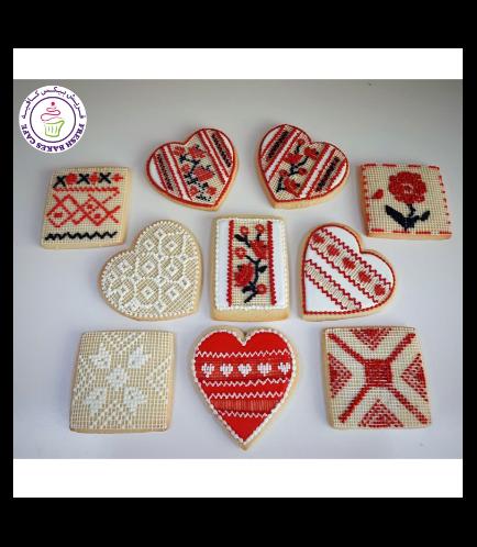 Cross Stitch Themed Cookies