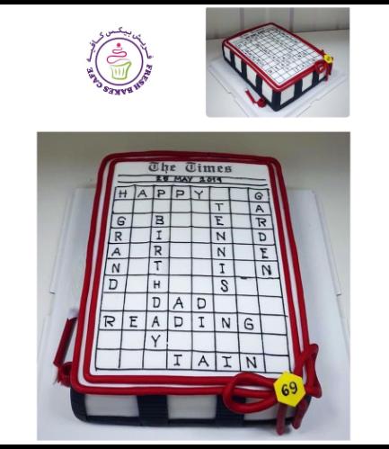 Crossword Themed Cake