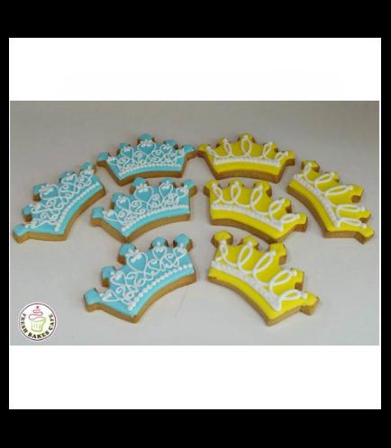 Crown Themed Cookies