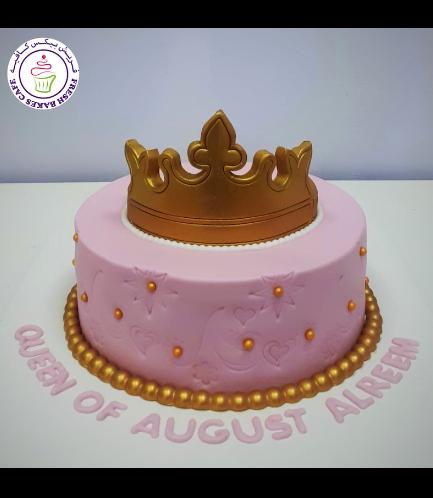 Cake - Fondant Imprint - Gold Crown