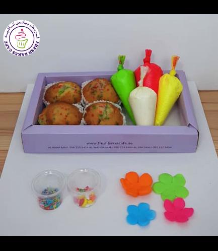 Cupcakes - Flowers - Decorating Kit