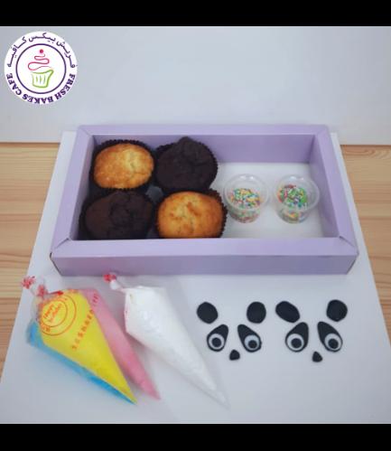 Panda Themed Cupcake Decorating Kit