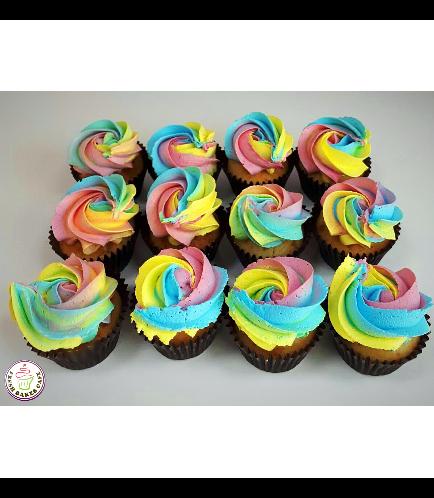 Cupcakes - Rainbow Icing 01